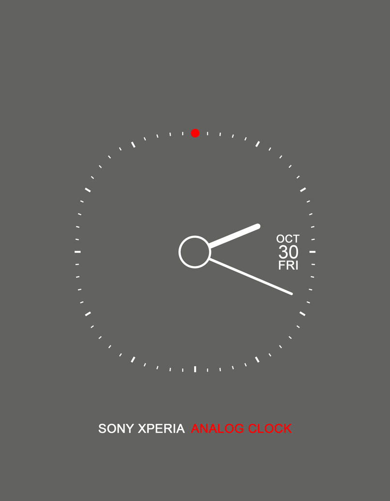 Sony Xperia Analog Clock - Grey