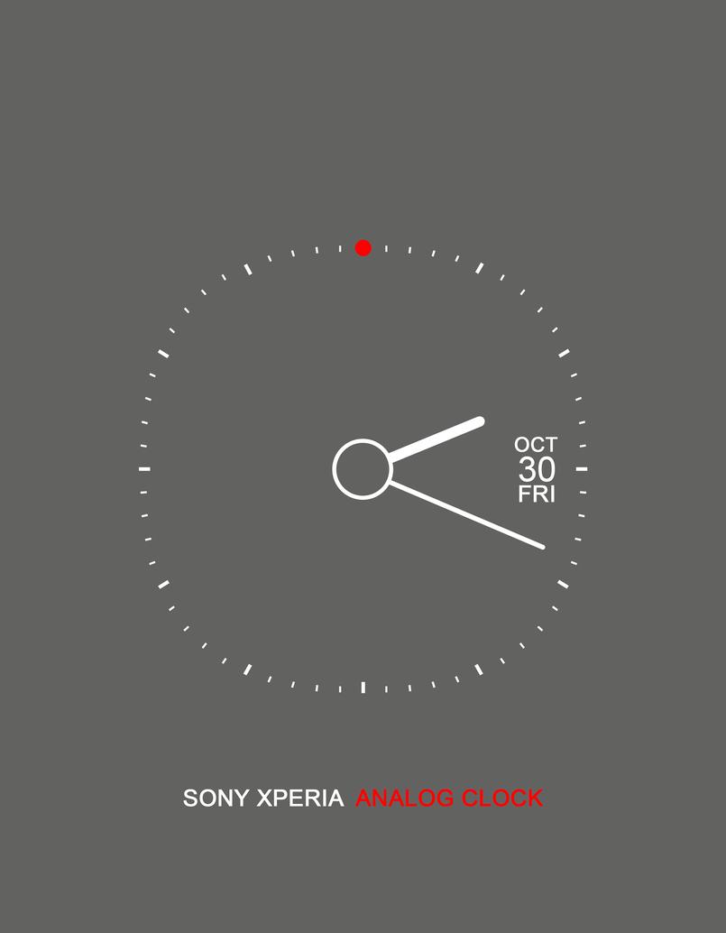 Sony Xperia Analog Clock - Grey