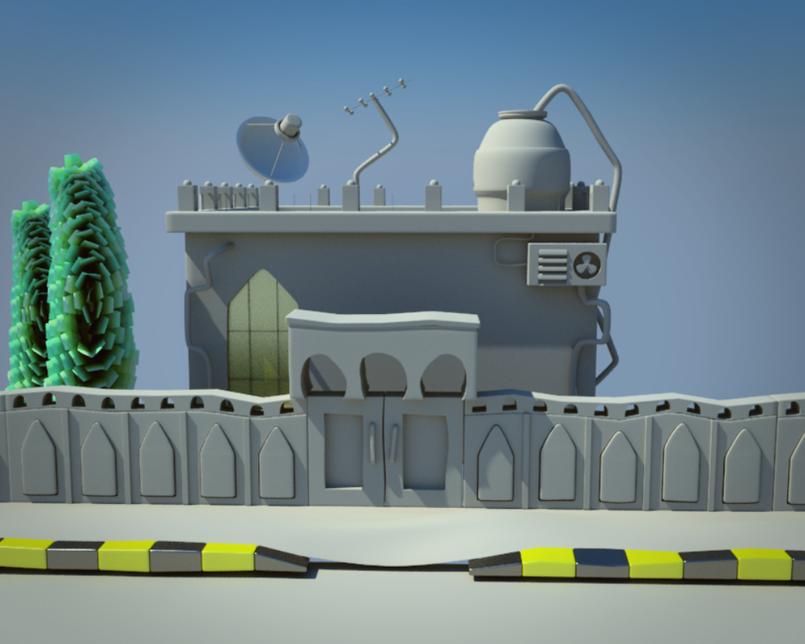 Sha3beyet cartoon house modeling 2