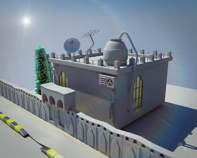 Sha3beyet cartoon house modeling 1