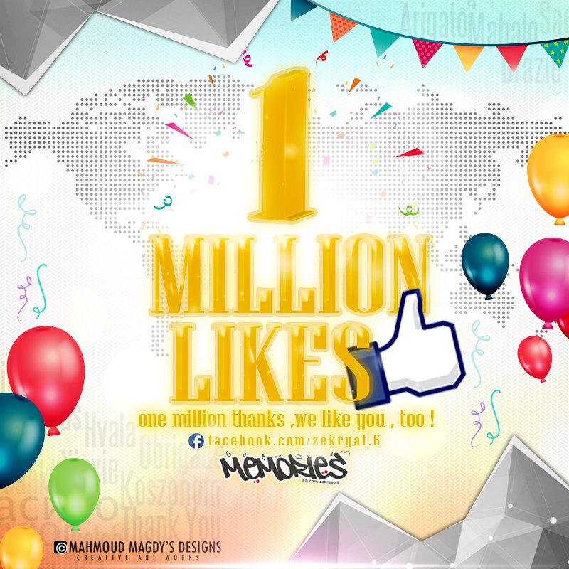 1 million like facebook
