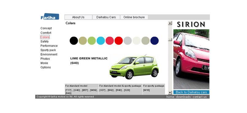 Fariha Daihatsu website