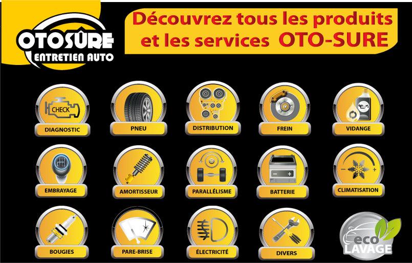 لافتات اشهاريّة لشركة OTO-SURE