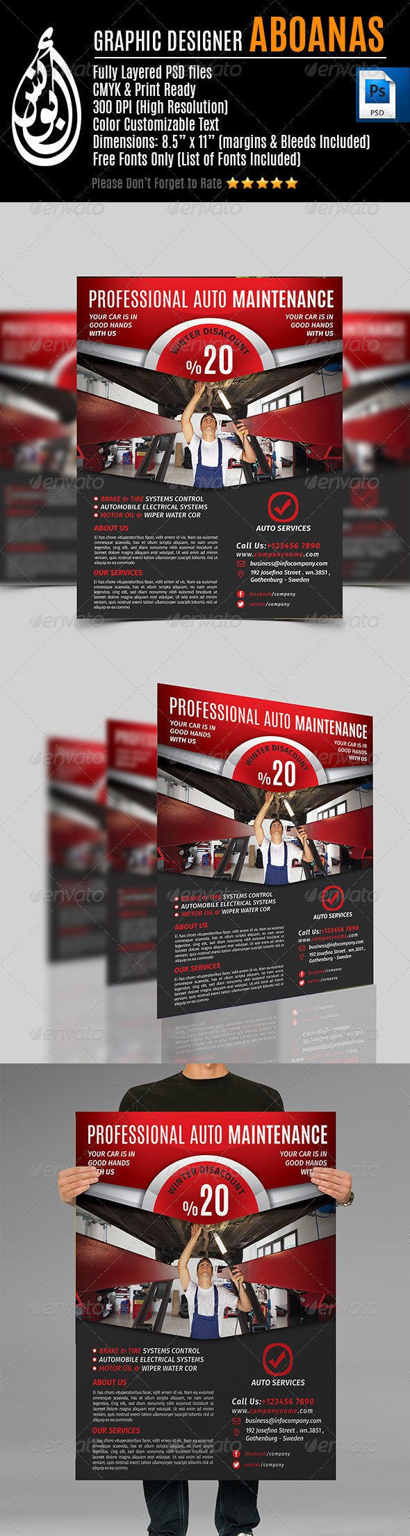 Auto Services Flyer Templates Vol.2