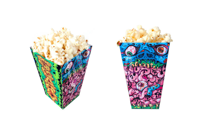 Halloween Popcorn Box Template