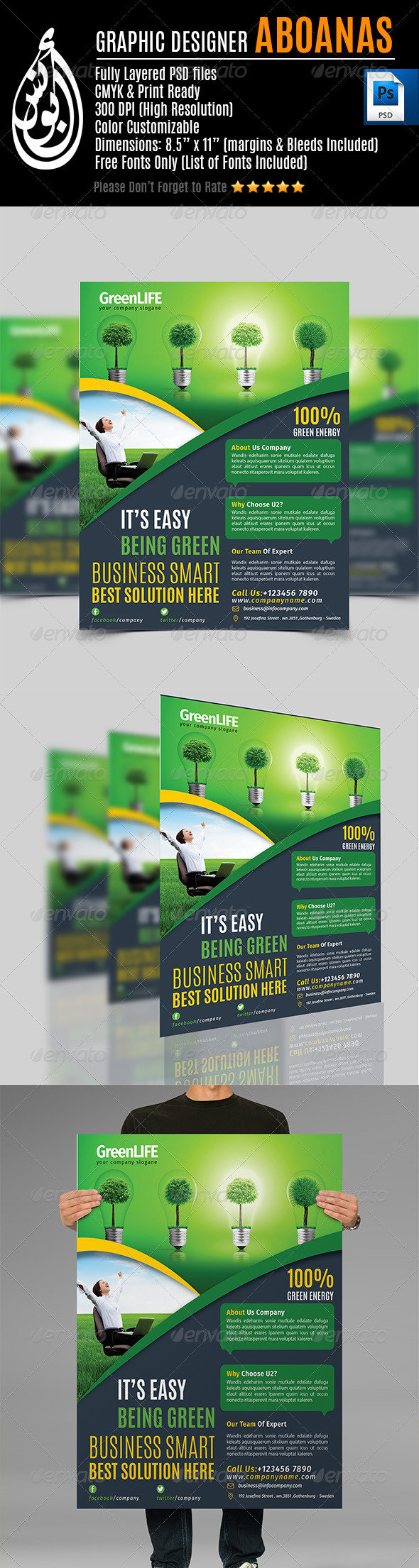 Green Life Flyer Template Vol.1