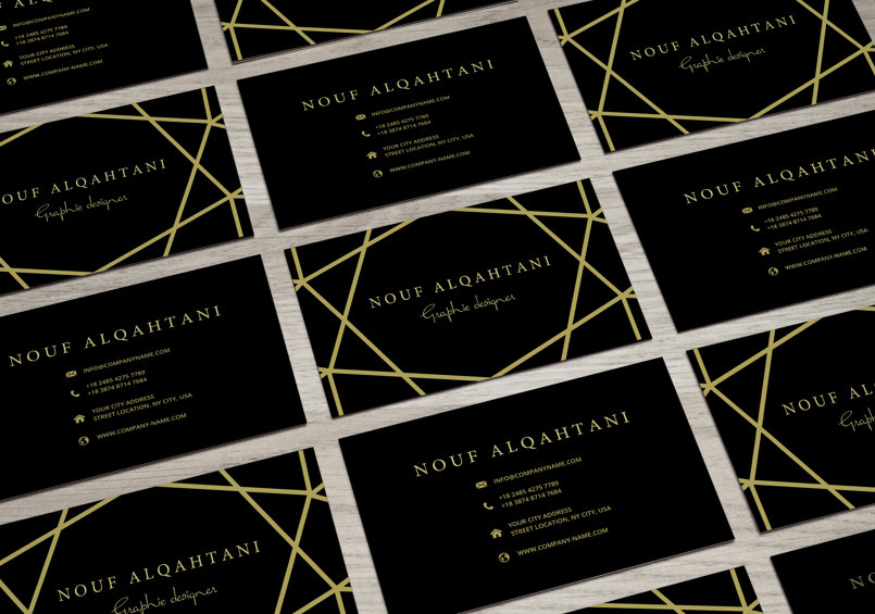 تصميم بطاقة عمل (بزنس كارد)