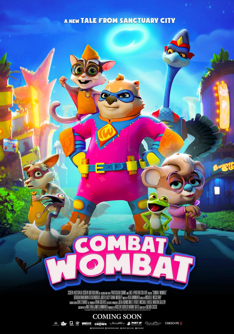 COMBAT WOMBAT character poster