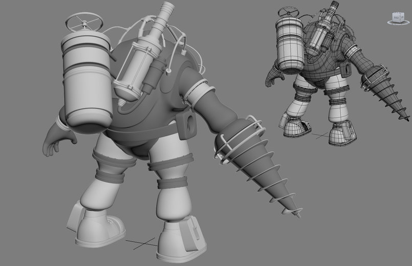 Big Daddy from Bioshock back