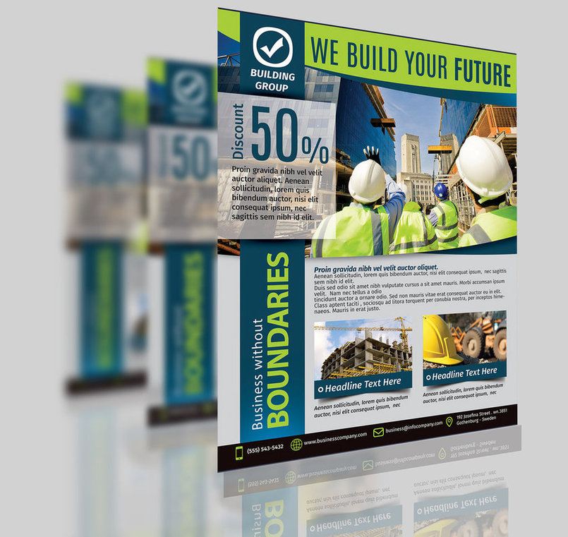 Construction Business Flyer Template Vol.2