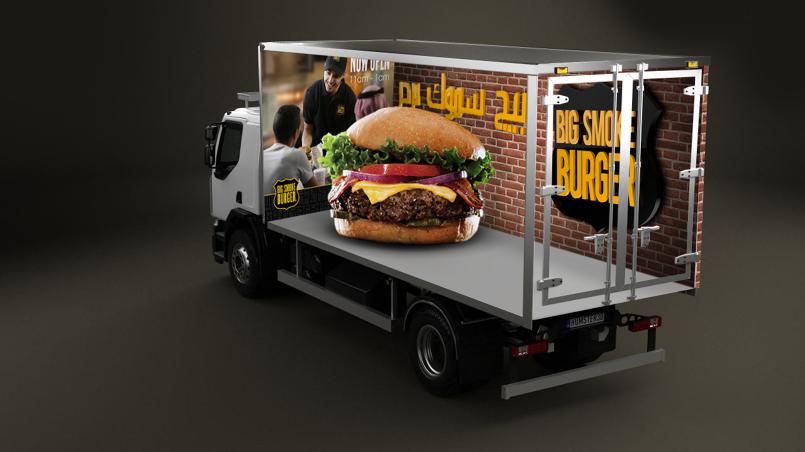 تصميم استكر لشاحنة - 3D خداع بصري