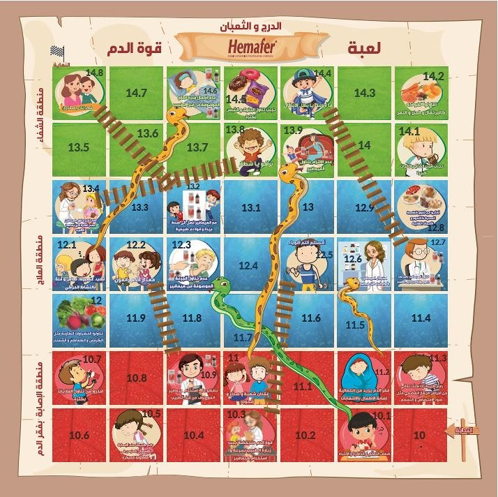Snakes and ladders medicine game for children