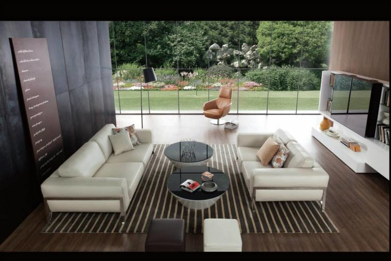 3d realistic rendering living room