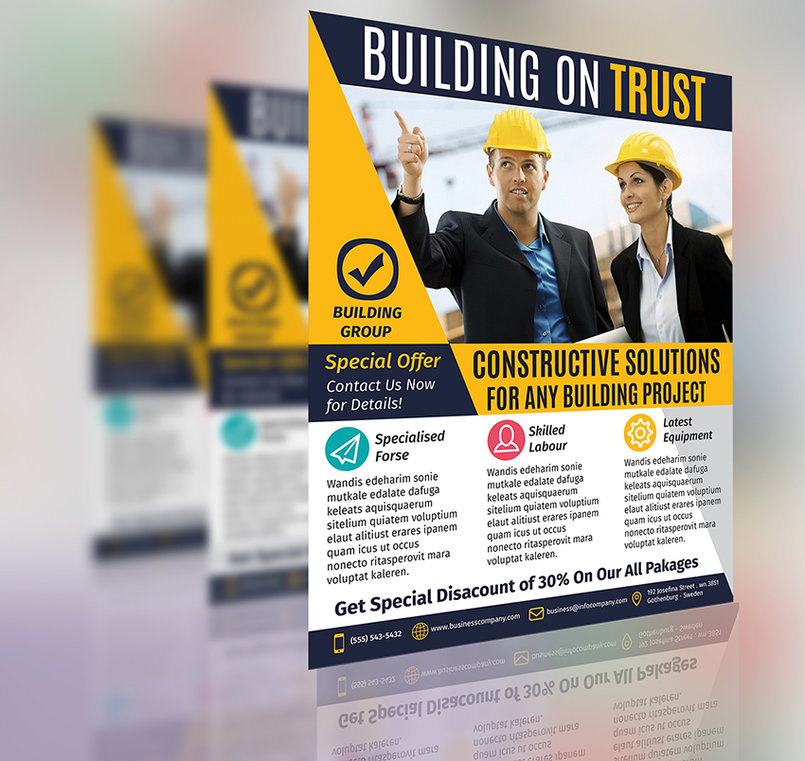 Construction Business Flyer Template Vol.1