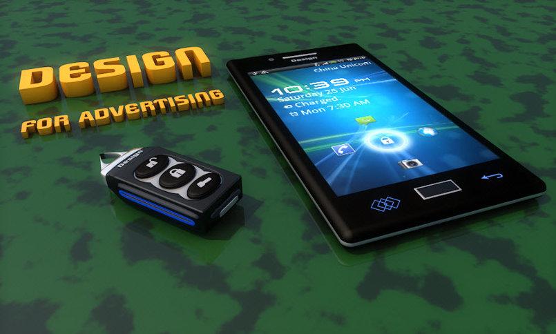 Mobile & Key 3D Model