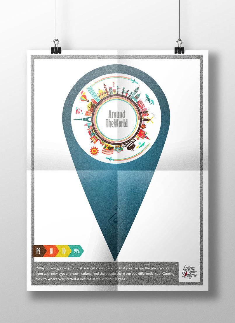 """Around The World"""" poster"""