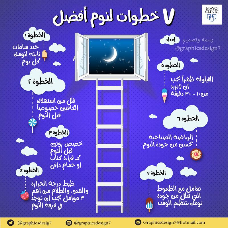 ٧ خطوات لنوم افضل