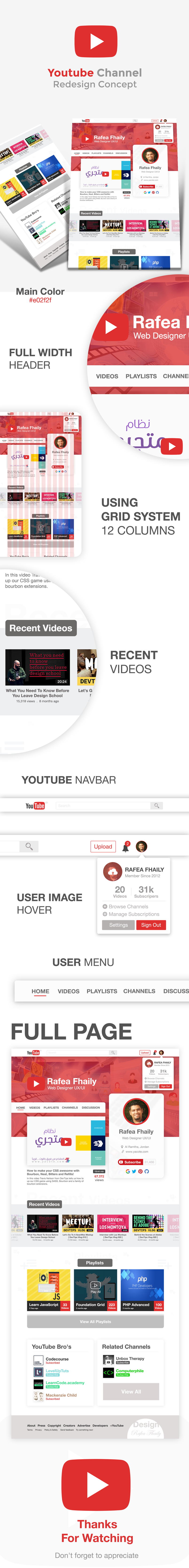 Youtube Channel Redesign Concept