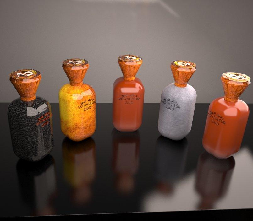Voygeur Oud Bottle and Bag Design - Product Design