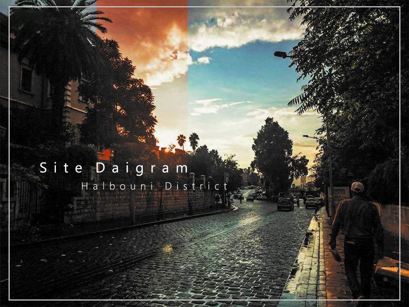 تصميم غلاف - لدراسة محور حي الحلبوني