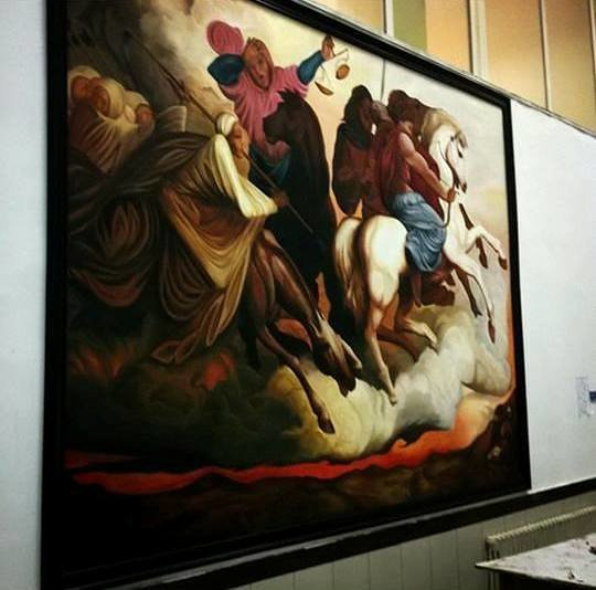3x4 meter acrylic  في جامعة فيلادلفيا