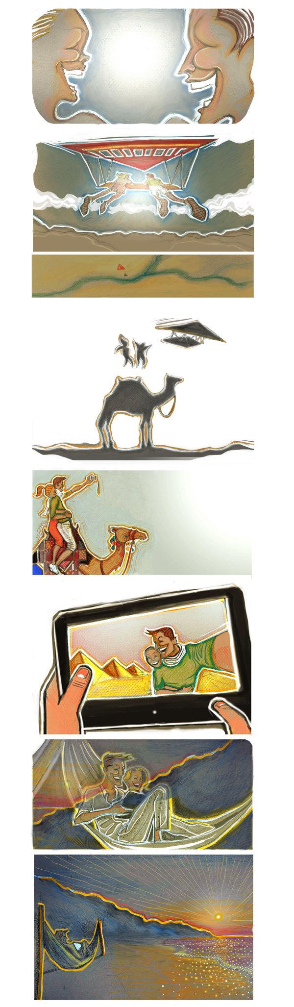 Egypt tourism storyboard/comics