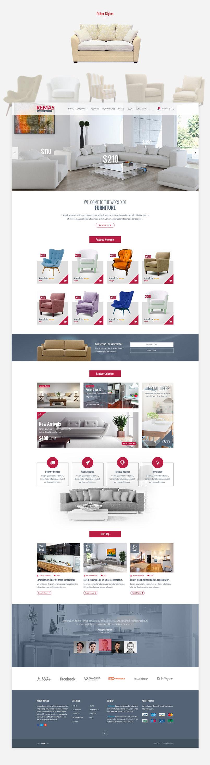 Remas Furniture PSD Template
