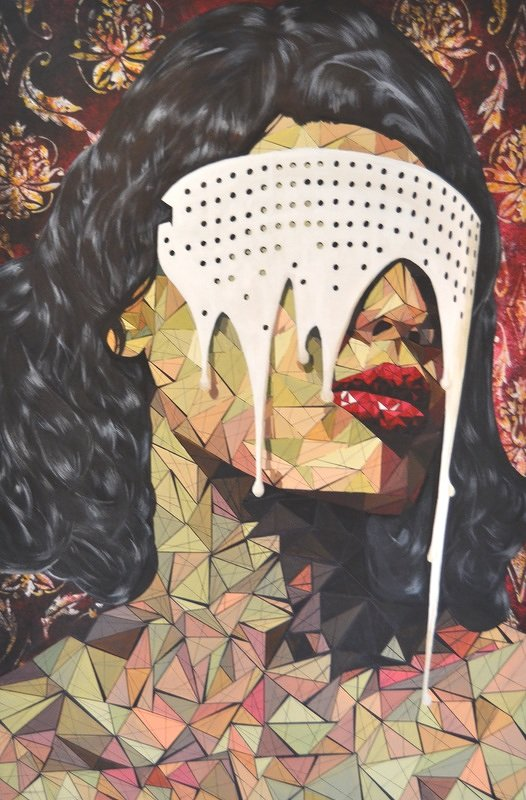 """""""ego"""" acrylic on canvas 120x85cm"""