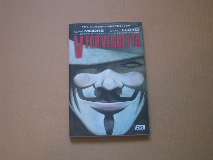 If you've seen the movie you'd say that V is a freedom fighter; if you read this graphic novel by Alan Moore and David Lloyd. You'd realize that there is more to this masked vigilante than fighting a totalitarian government ... and its not all pleasant and noble.  Unlike the movie that centered around V and Evey Hammond there is more to this masterpiece than just two characters brought together by