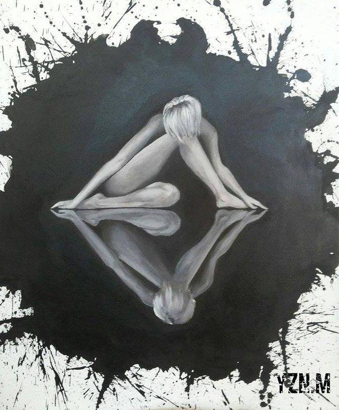 """Mirrors "" acrylic on canvas"