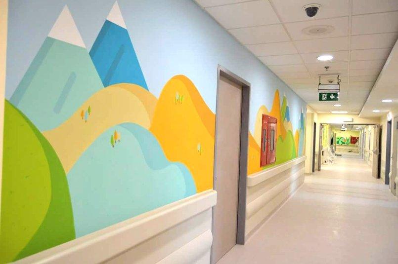 مشروع لمستشفى الحسين للسرطان فسم الاطفال على امتداد 3 طوابق و 450 متر مربع