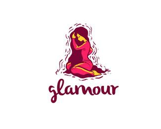 Glamour beauty products logo. Dubai