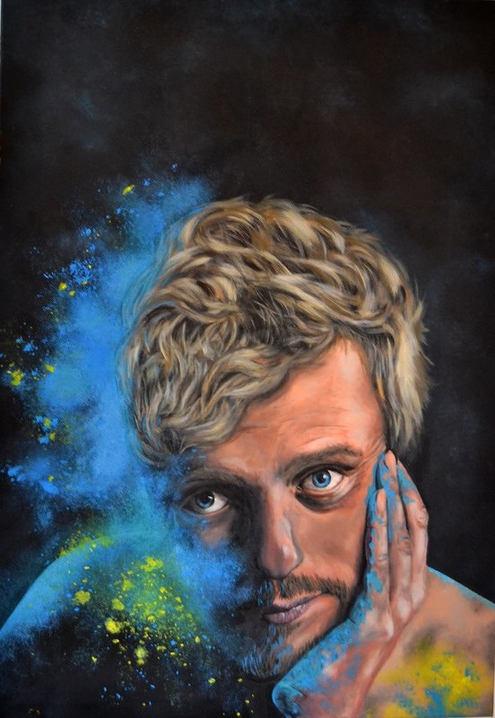 """""""Idia Burst"""" acrylic on canvas 100x70 cm"""