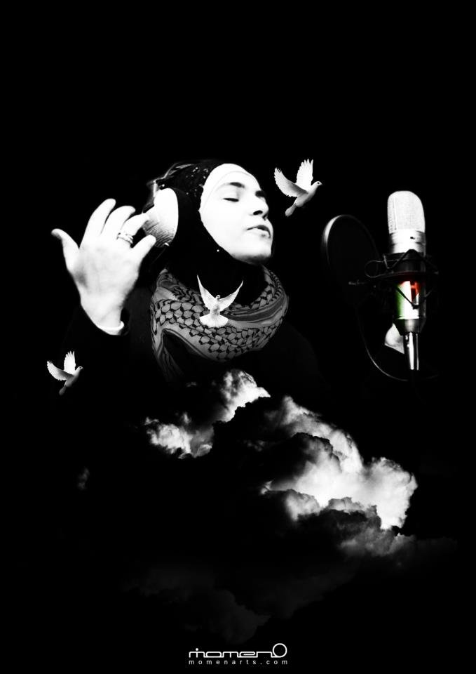 "ميس شلش ، مطربه فلسطينيه ""صوت الحرية"" صوت رائع  Mais Shalash Palestinian singer,"" freedom voice""  indeed her voice is amazing  Designed by Mo'men AL-Masharka  www.momenarts.com"