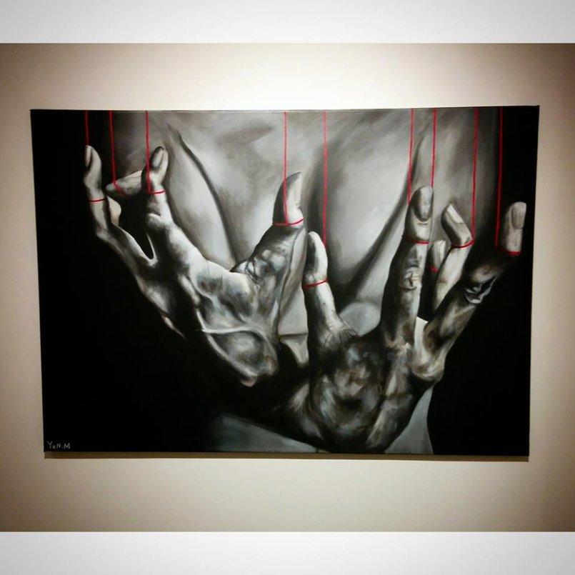 """Puppet Master"" acrylic on canvas 100x70 cm"