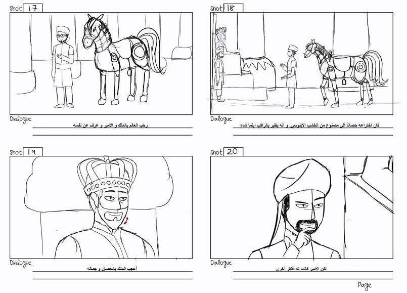 The Mechanic Horse STORYBOARD