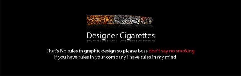 DESIGNER CIGARETTES
