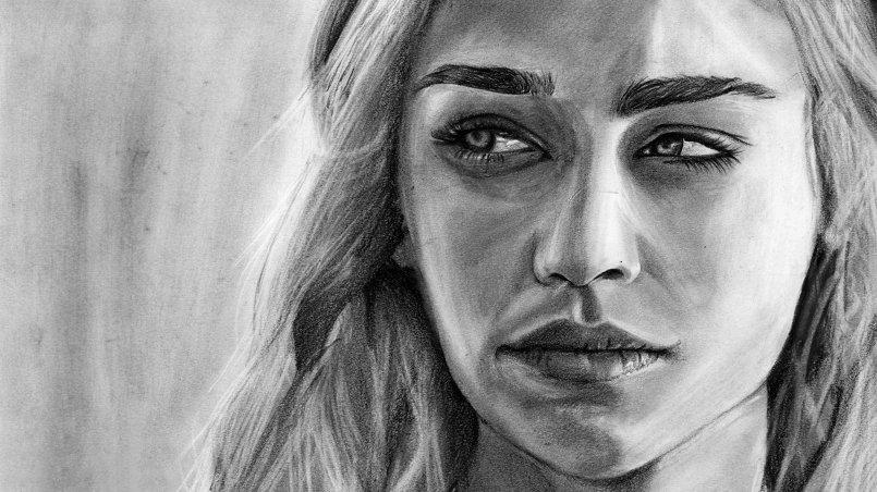 portrait Daenerys Targaryen  from Game of Thrones