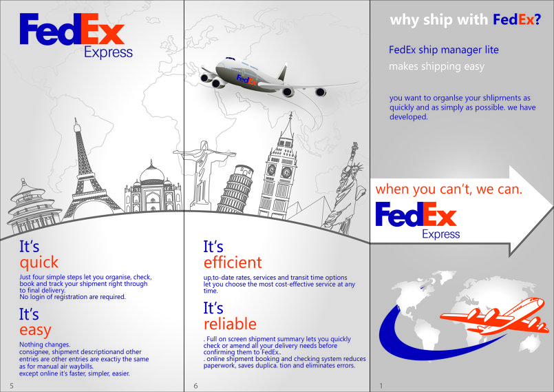 fedex poster and brochure