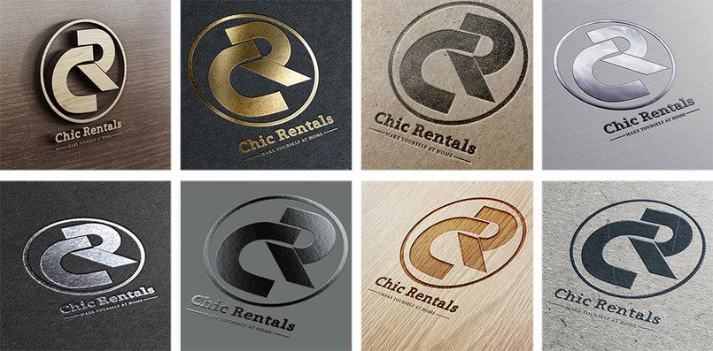 تصميم علامة تجارية Chic Rentals