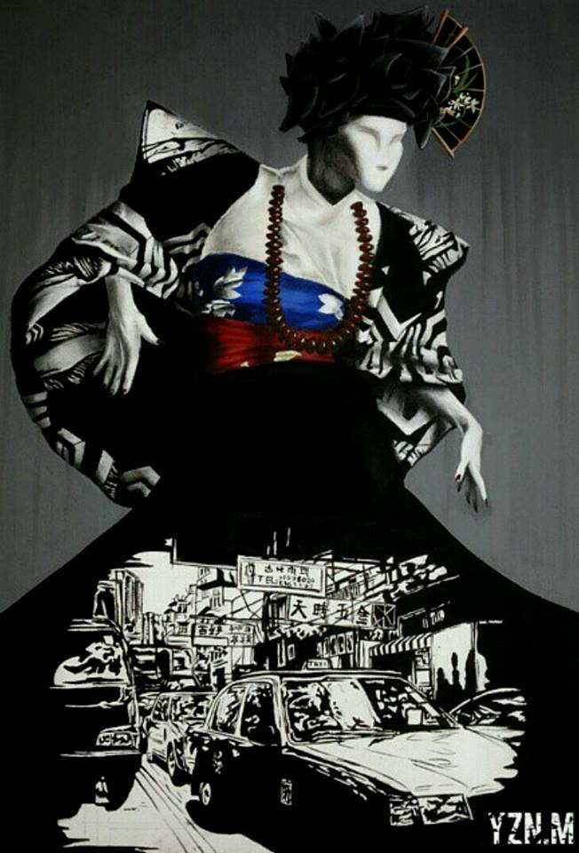 """City Spirit "" acrylic on canvas"