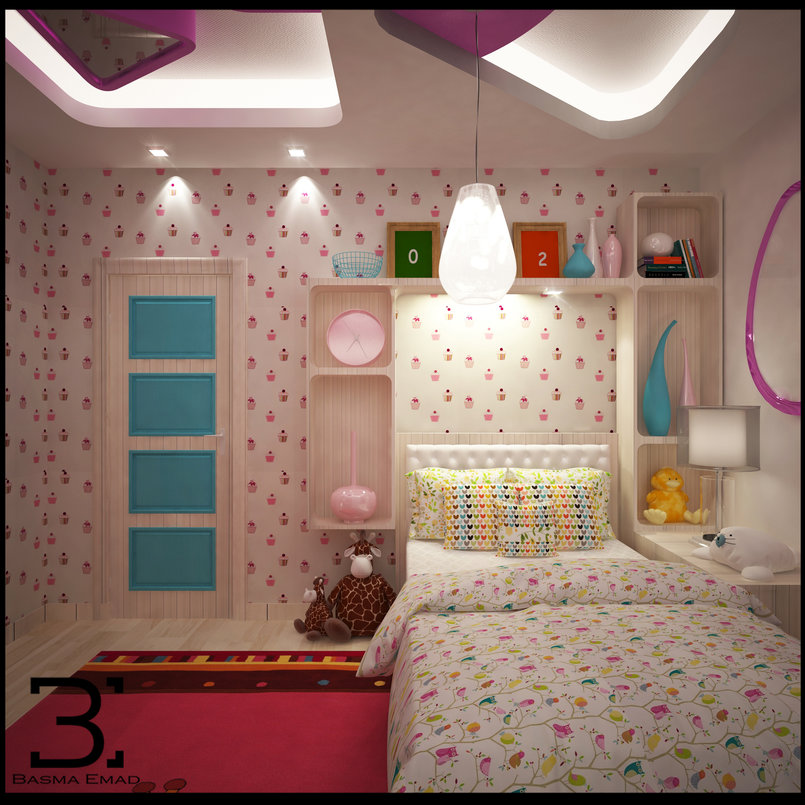 "Modern Girly ""Pinkish"" bedroom"