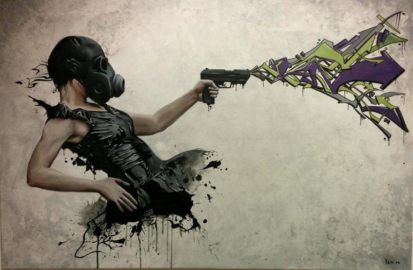 """Art of resistance "" acrylic on canvas 120x85 cm"