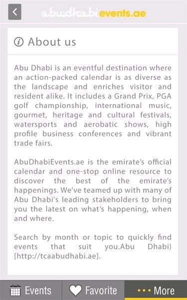 Abu Dhabi Event application