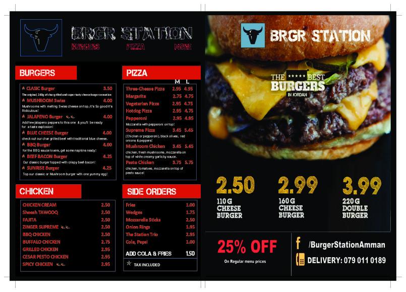 burgr station menu