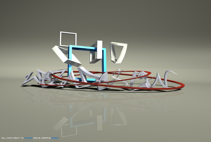name by 3D max design 2014