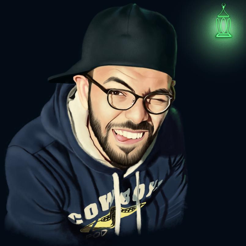 Portrait with a styled design بورتريه مع تصميم مميز
