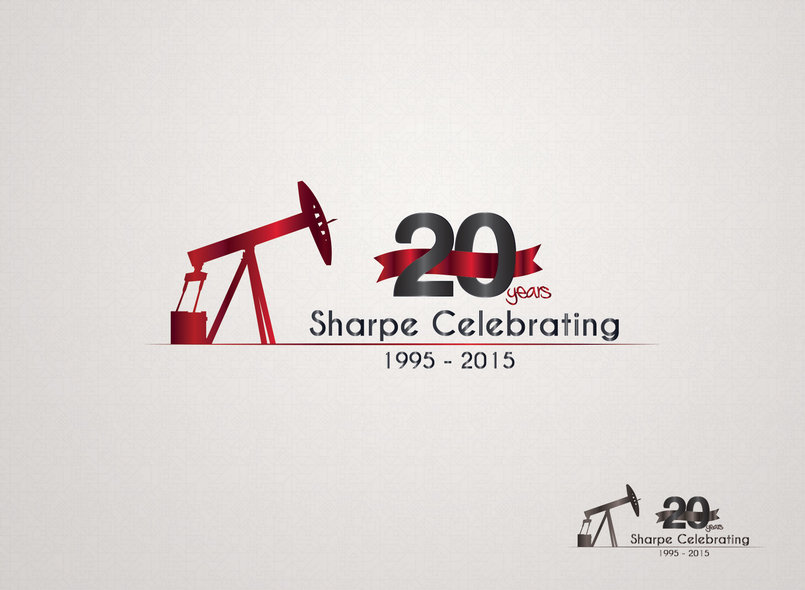 Sharpe Celebrating 20 years Logo