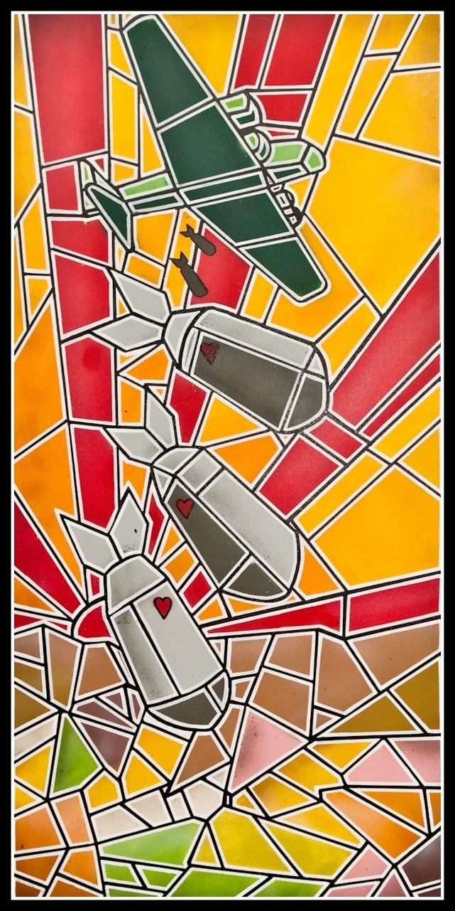 Salam 3 - eL Seed - Spray Paint and Posca - 120 x 60
