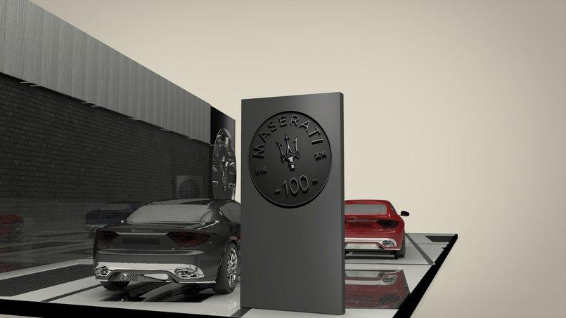 Maserati booth
